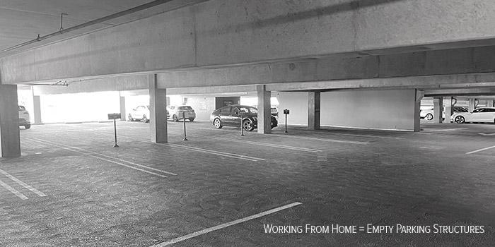 Parking ratios with hybrid work schedules