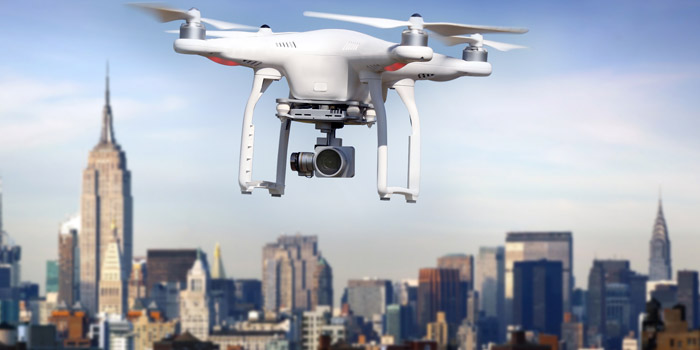 Drones fly into focus commercial real estate